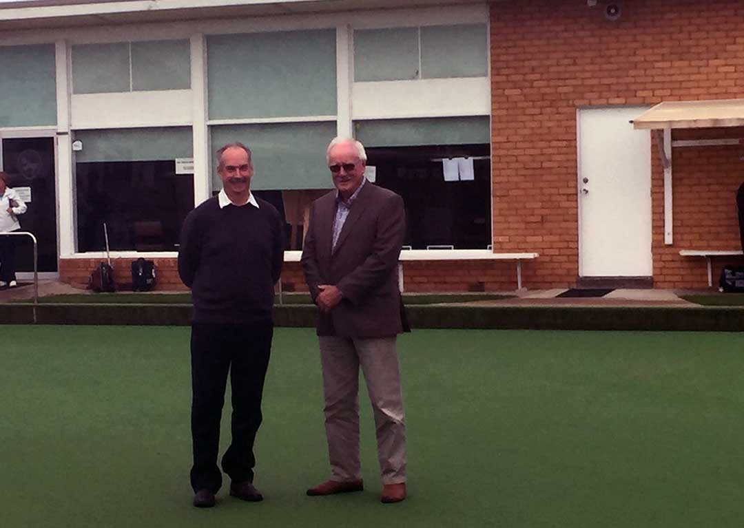 James Purcell and Bob Mallett at the Port Fairy Bowls Club which received funding for an upgrade in the 2017 State budget.